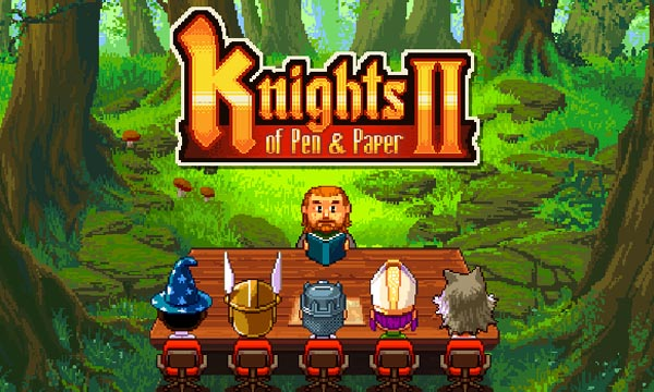 Android Knight of Pen And Paper 2 RPG Dungeon Role Playing Retro Table Top Fantasy ftr