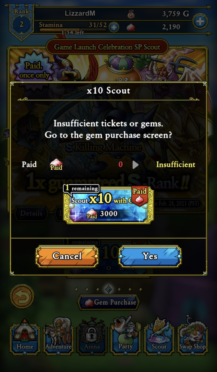 Dragon Quest Tact premium currency