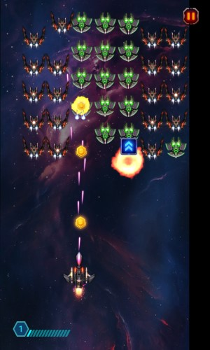 space war: starship shooter enemy wave