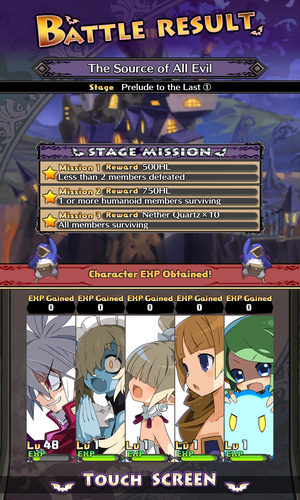 Disgaea RPG Battle Results and Rewards