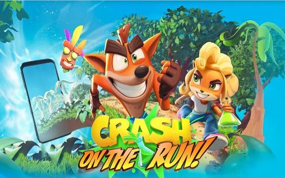 Crash Bandicoot On The Run title screen