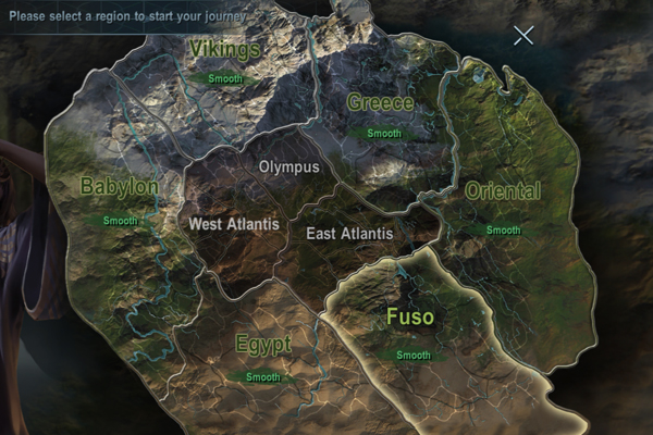 Rise of Warlords world map