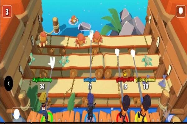 castaway party competitive minigame