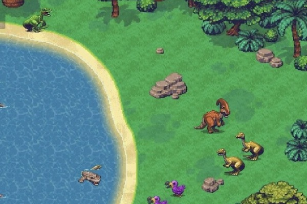Group of dinosaurs together in zone 1