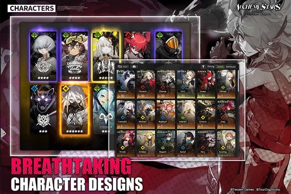 Alchemy Stars character cards