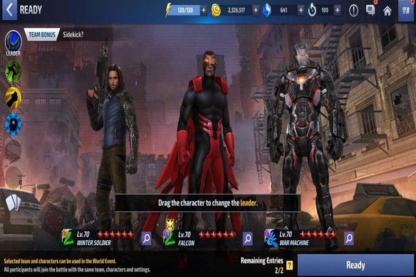 Marvel Future Fight Falcon and Winter Soldier Update Game Play