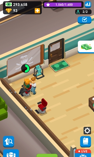 Idle Barber Shop Tycoon gameplay
