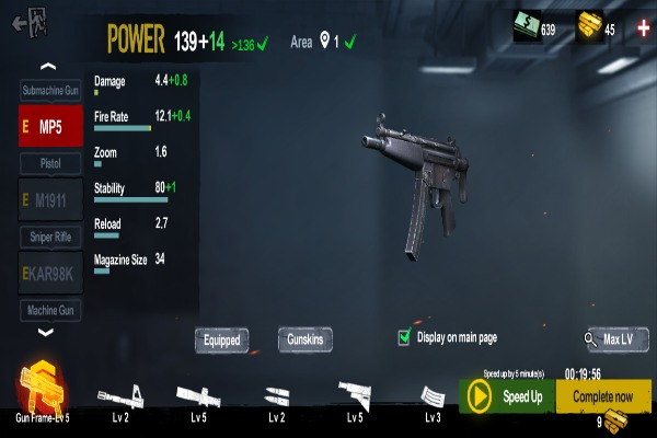 Zombie Frontier 4 Weapon Leveling System