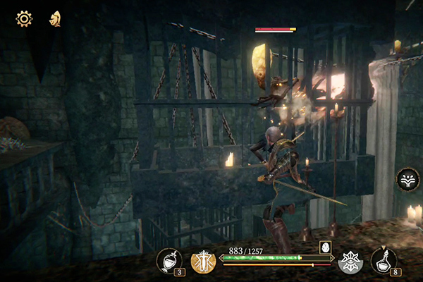 Pascals Wager Attacking Glowing Head In Cage