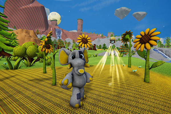 Woven Pocket Edition Stuffy And Glitch In Sunflower Field